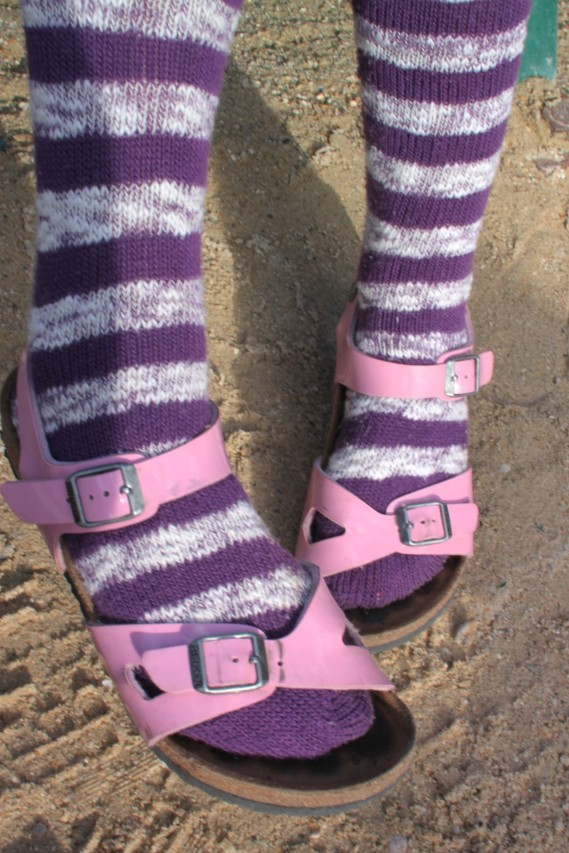 This is how you do socks and sandals.